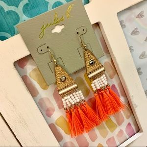 🔸🔶JULES B: Pyramid Tassel Beaded Dangles🔶🔸